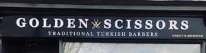 Golden Scissors Turkish barber