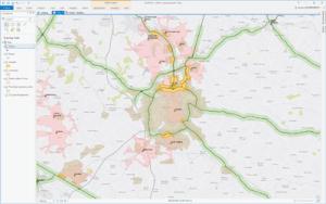 Example of multi-criteria GIS analysis