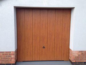 Wood effect garage doors