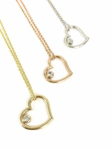 Handmade gold and diamond hearts