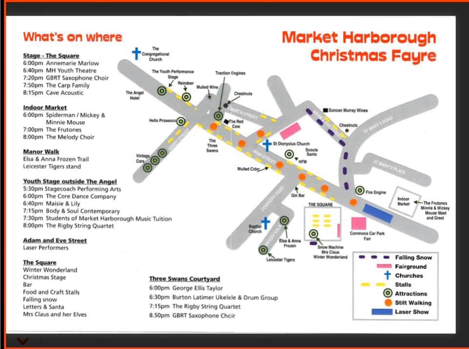 Market Harborough Christmas Fayre Map