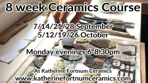 8 week ceramics course september october 2020 at Katherine Fortnum Ceramics 300x169