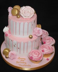 macaroons and roses drip birthday cake pretty pink 518x640 1 243x300