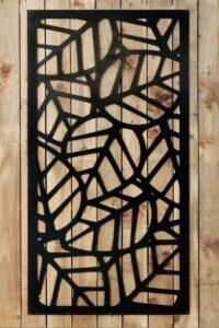 black metal leaf design garden panel 600x900 1 200x300