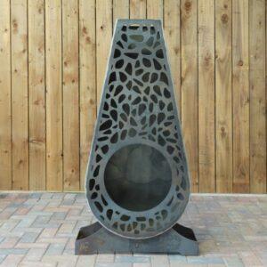 large grey metal garden chiminea outdoor fire 600x600 1 300x300