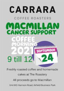 Macmillan Coffee Morning Poster 212x300